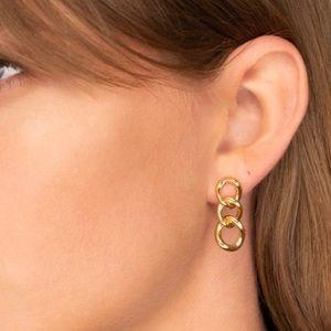 Mejuri Curve Link Earrings